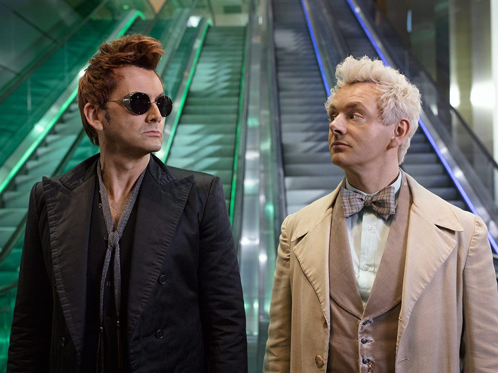 """David Tennant and Michael Sheen in """"Good Omens"""""""
