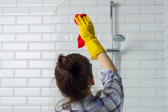 cleaning shower