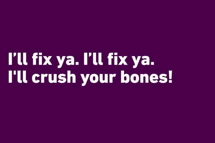 crushing bones