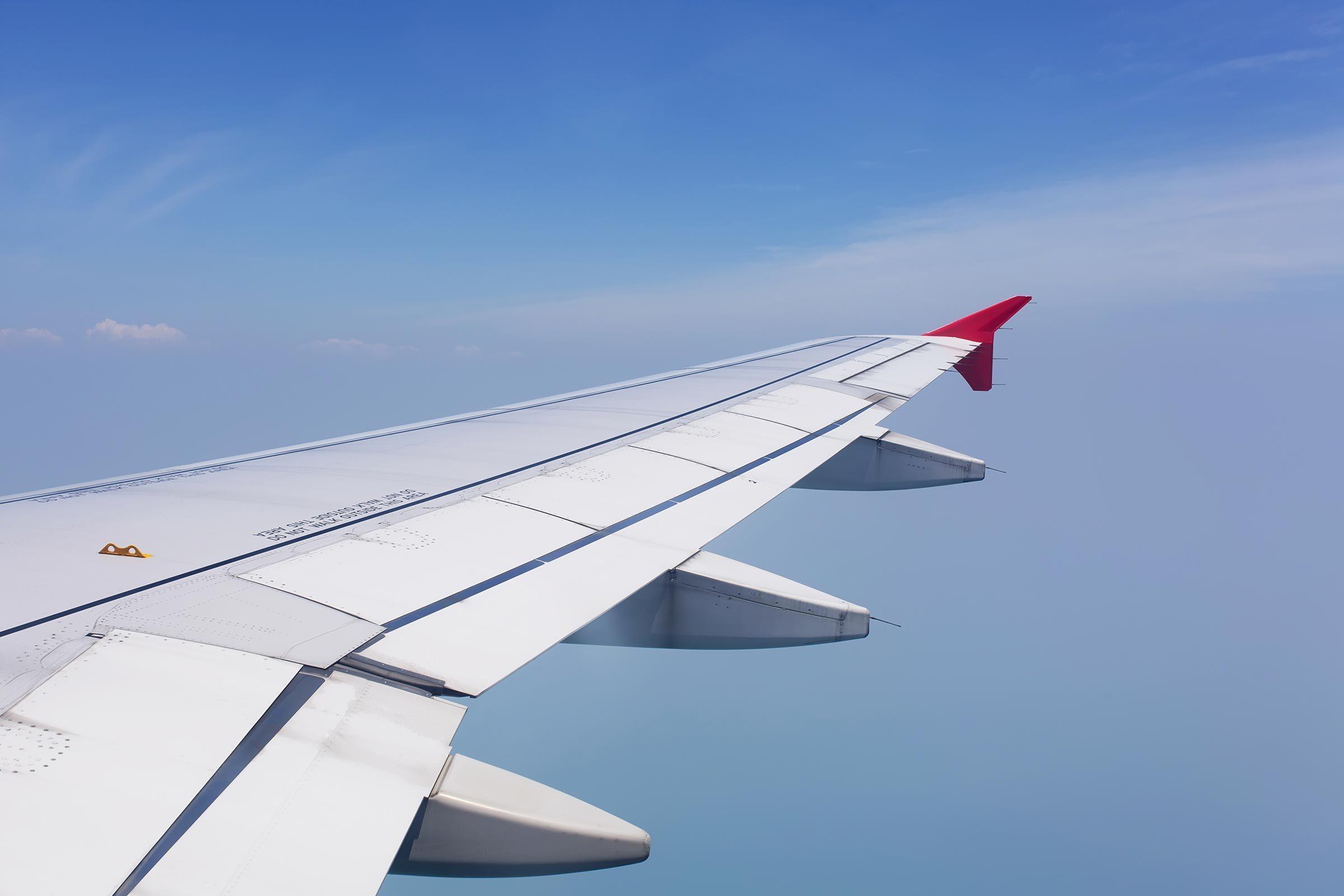 airplane flight wing