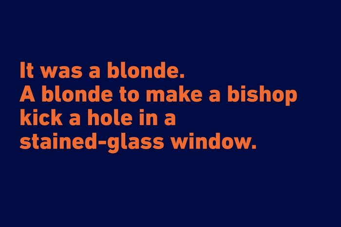 Raymond Chandler funny quote