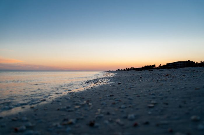 Sunset over Sanibel Island, Florida, USA
