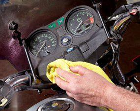 Clean and polish the dash