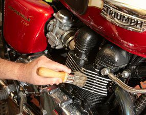 Clean the engine and drivetrain