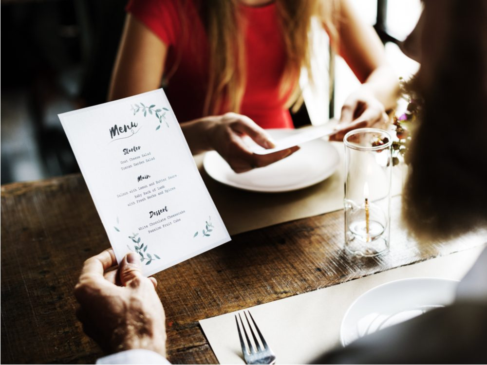 covered in fecal matter - Restaurant menus