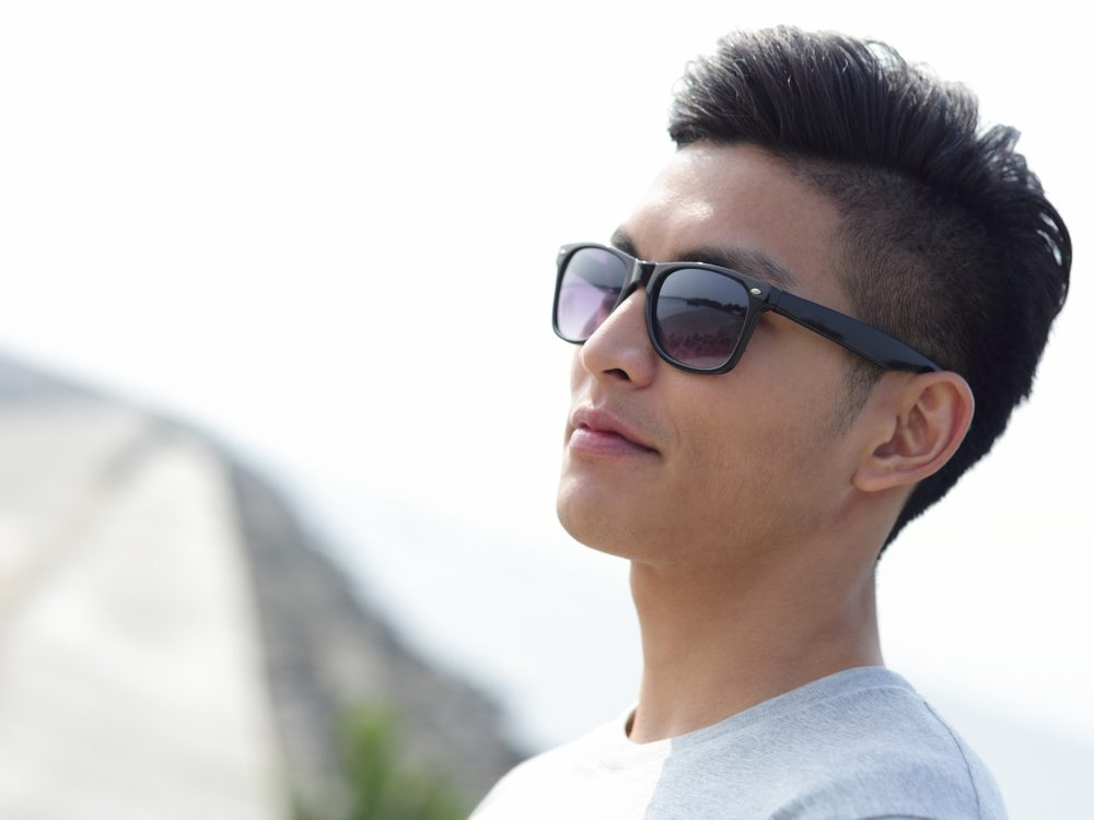 Asian man with sunglasses