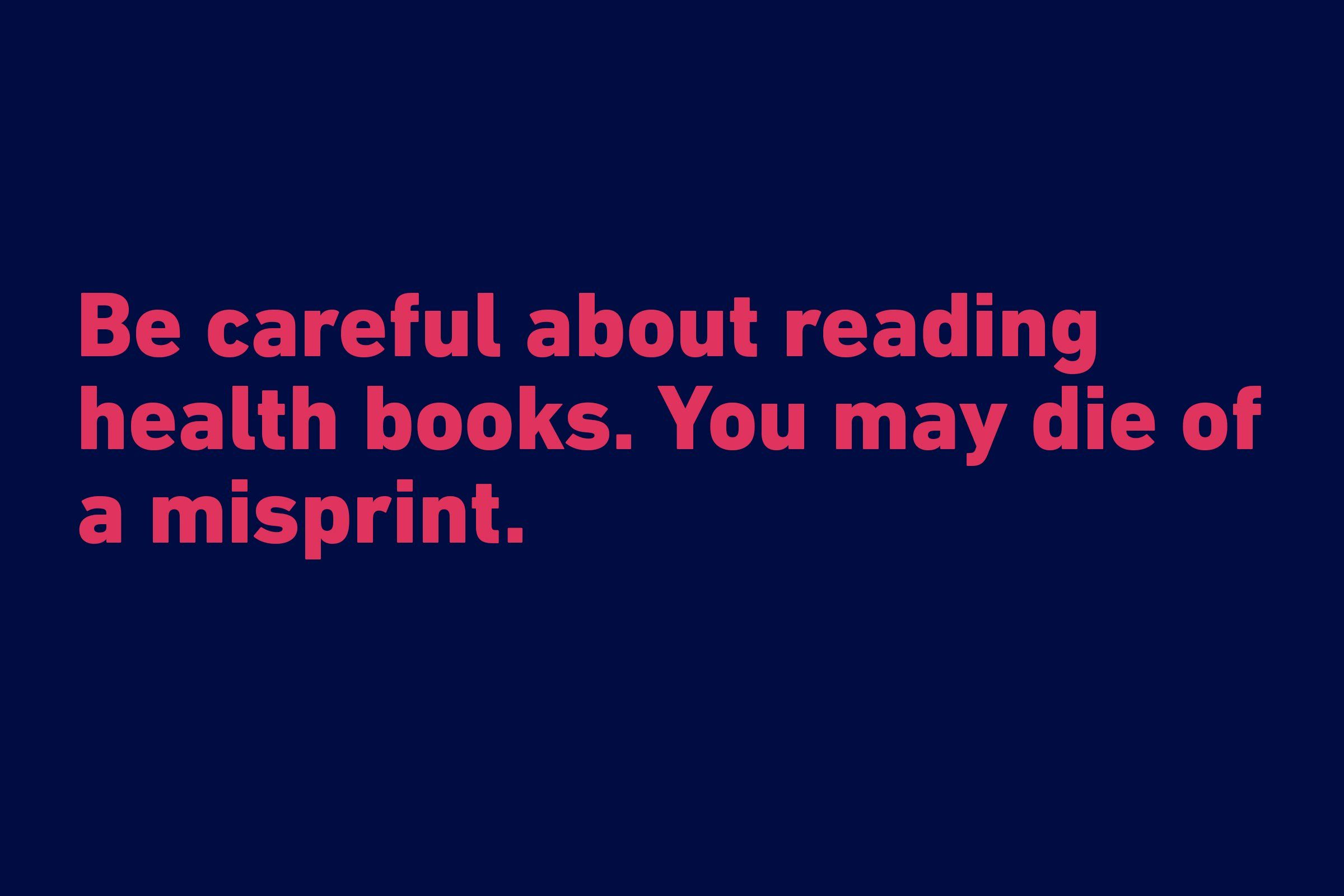 reading health books