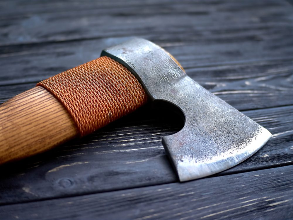 Close-up of axe