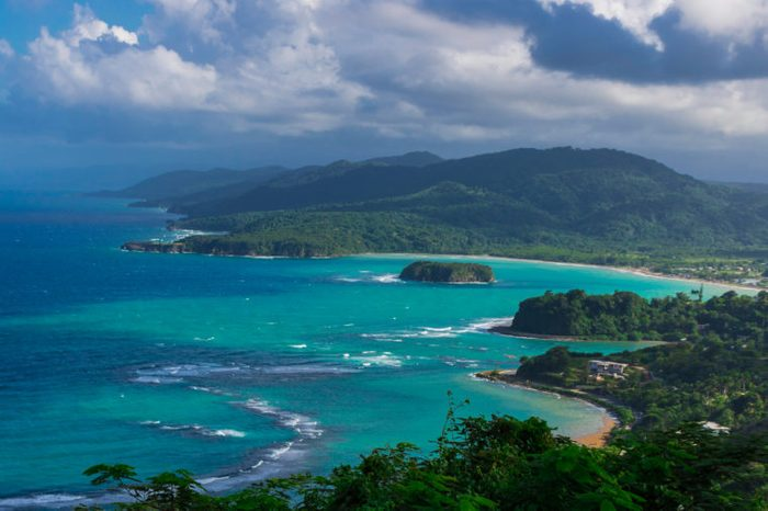 View of the bay in Port Maria, St Mary, Jamaica