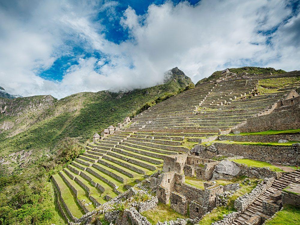 Machu Picchu facts - terraces