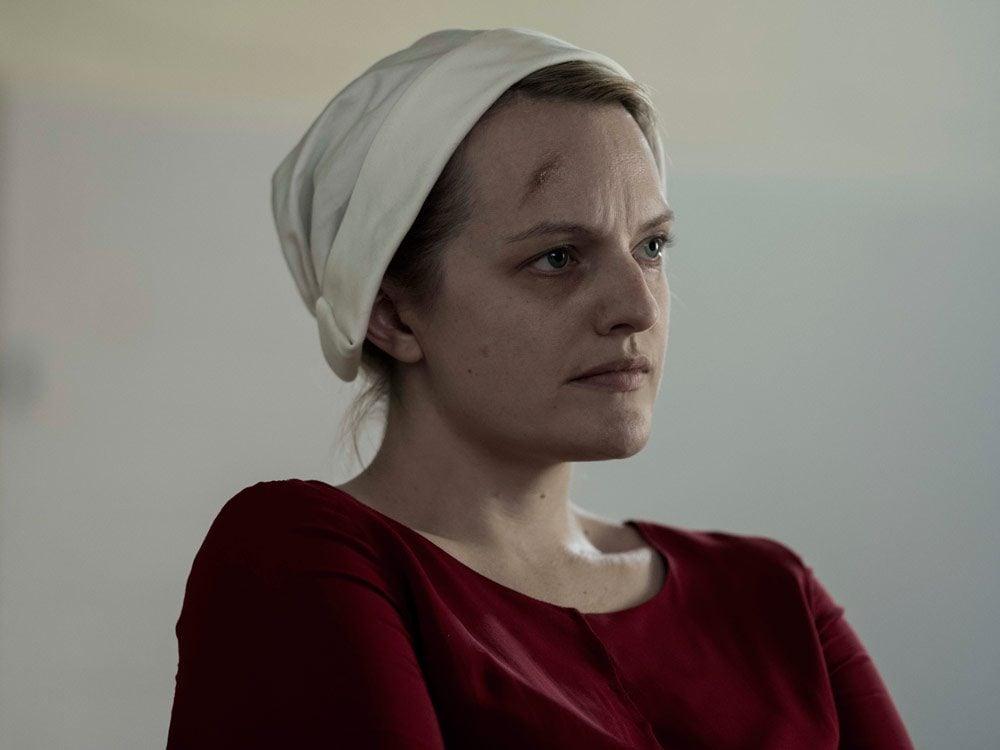 "Elisabeth Moss in ""The Handmaid's Tale"""