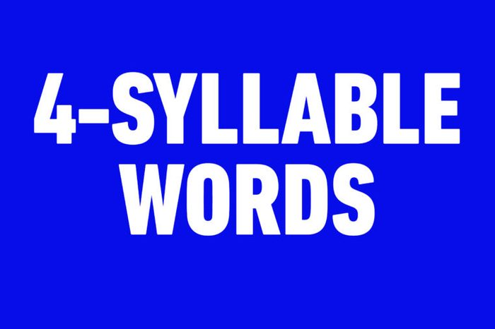 4 syllable words