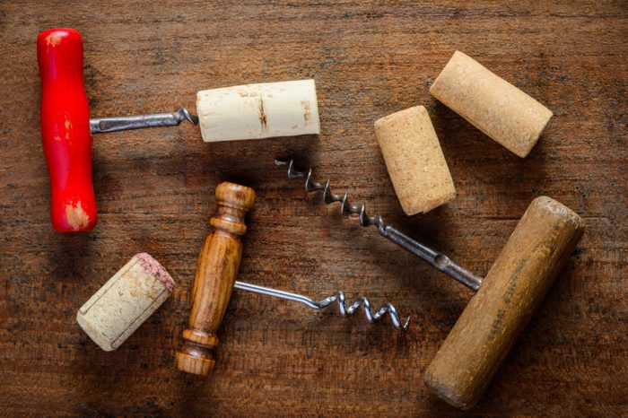 Different corksrew and cork wine opener