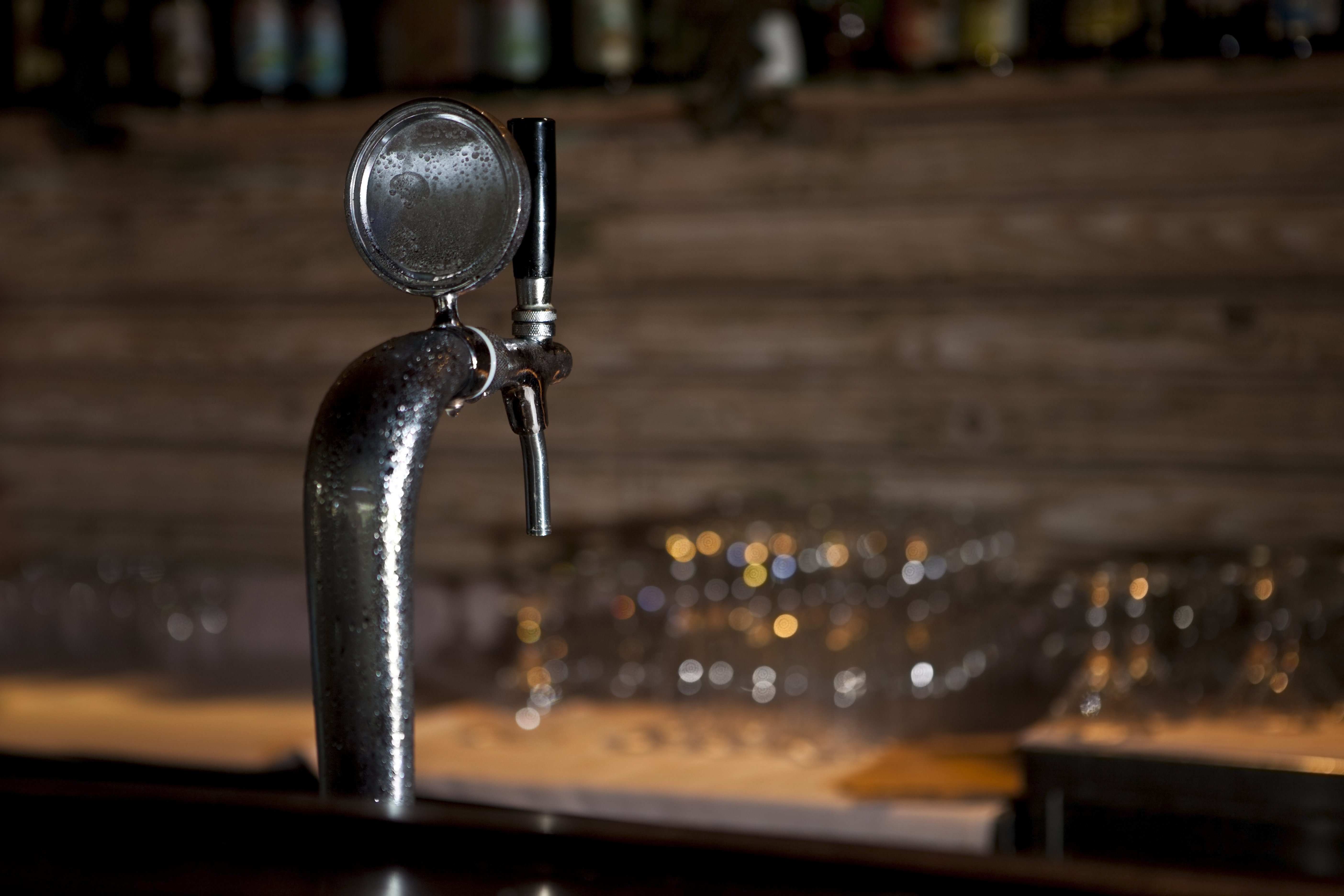 Draught Beer Tap in a Bar