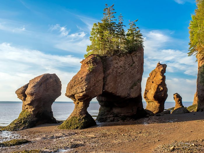 Canada landmarks - Hopewell Rocks in the Bay of Fundy