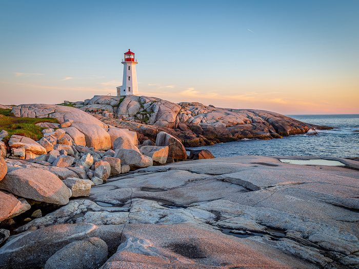 Canada landmarks - Peggy's Point lighthouse in Peggy's Cove
