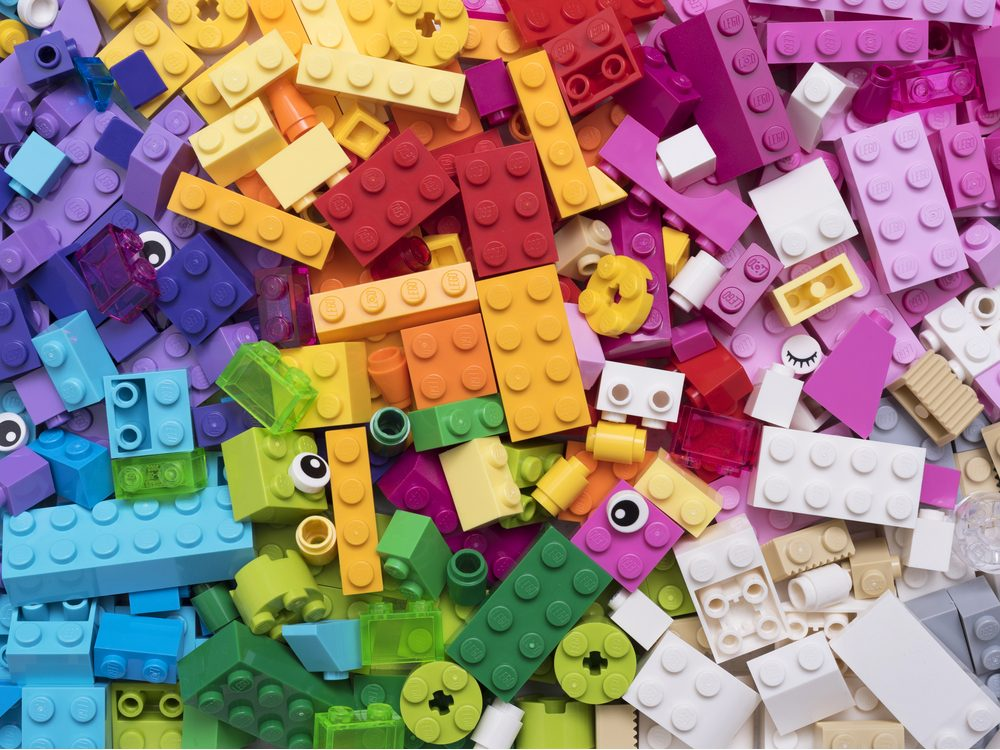 Lego blocks in different colours