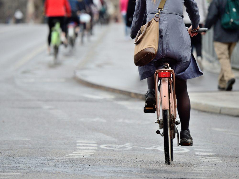 heart health biking to work