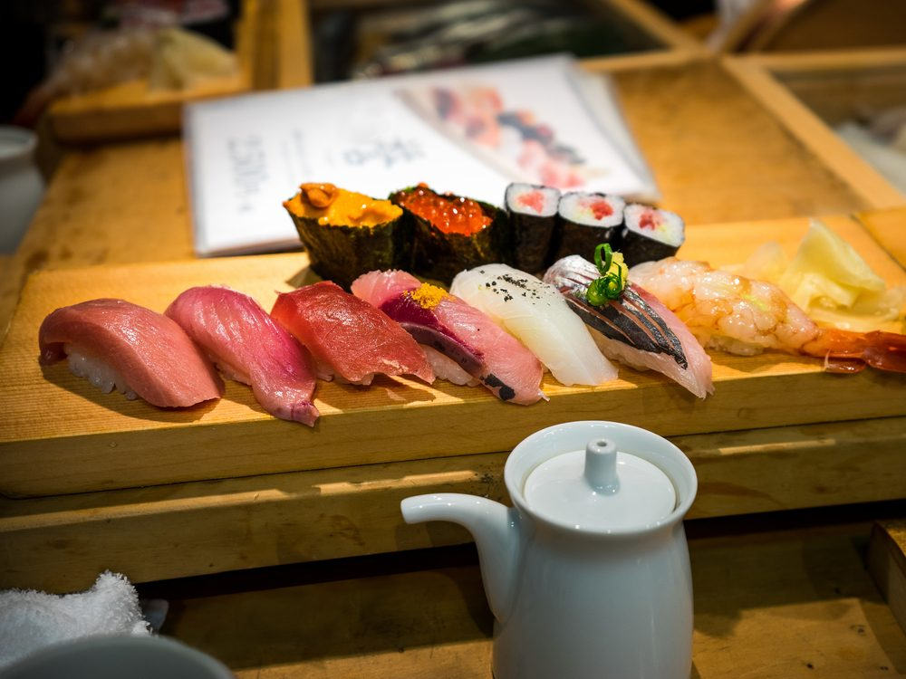Sushi meal in Japan