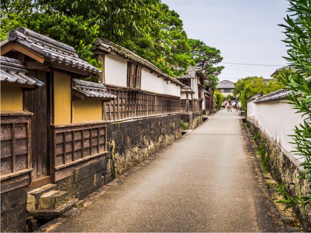 Hagi, coastal town in Japan