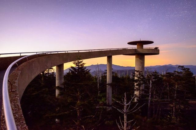 Clingman's Dome in the Great Smoky Mountains of Tennessee.