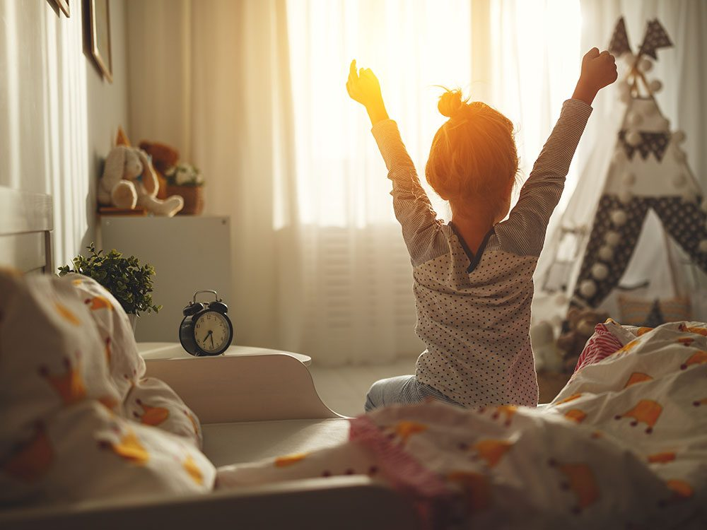 Progressive dystonia - girl waking up
