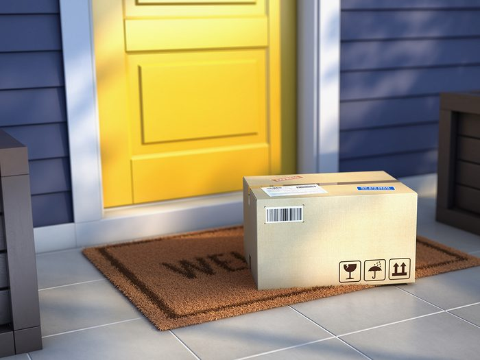 Signs an Amazon seller can't be trusted - package at front door