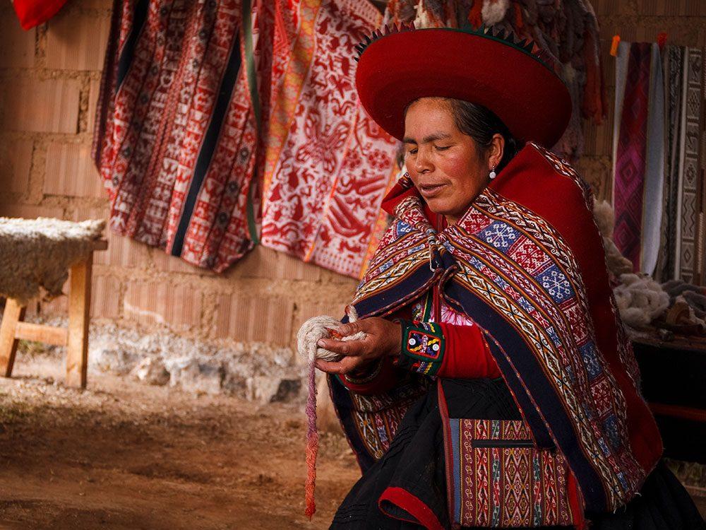 Things to Do in Peru - Weaving demonstration Chinchero