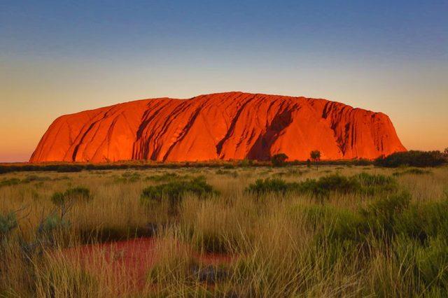Uluru, Ayers Rock, Uluru-Kata Tjuta National Park, Northern Territory, Australia - Mar 2018