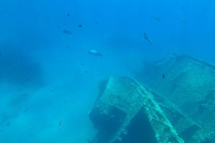 underwater wreck of the elviscot