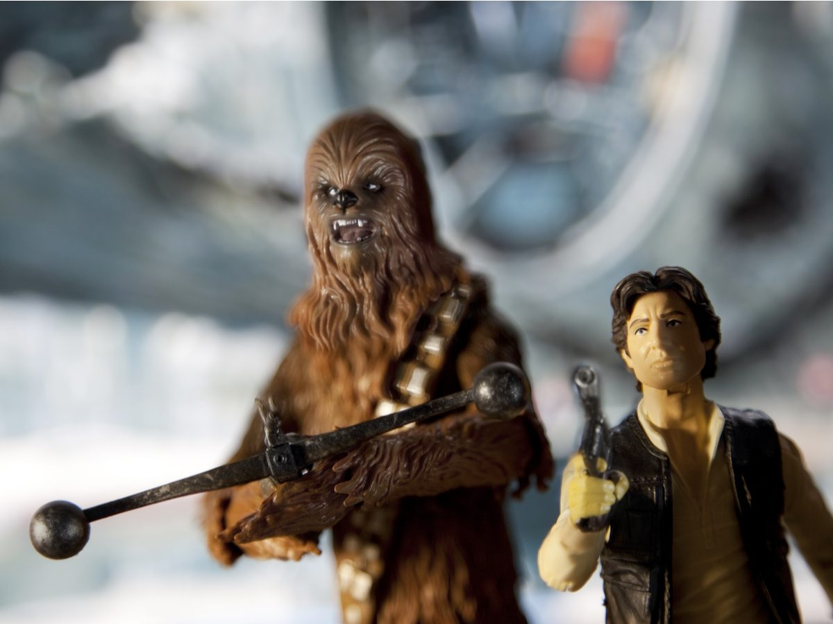 Han Solo and Chewbacca action figures