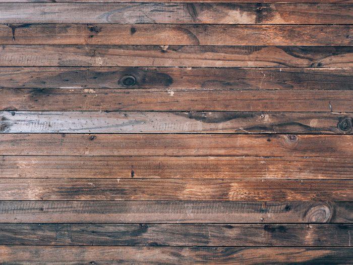 Aged dark hardwood