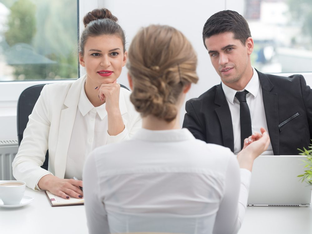 Female applicant during job interview
