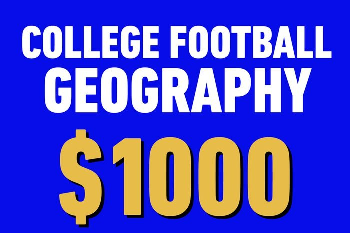 college football geography 1000