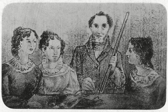 Bronte Family A Family Portrait of Charlotte Emily Bramwell and Anne