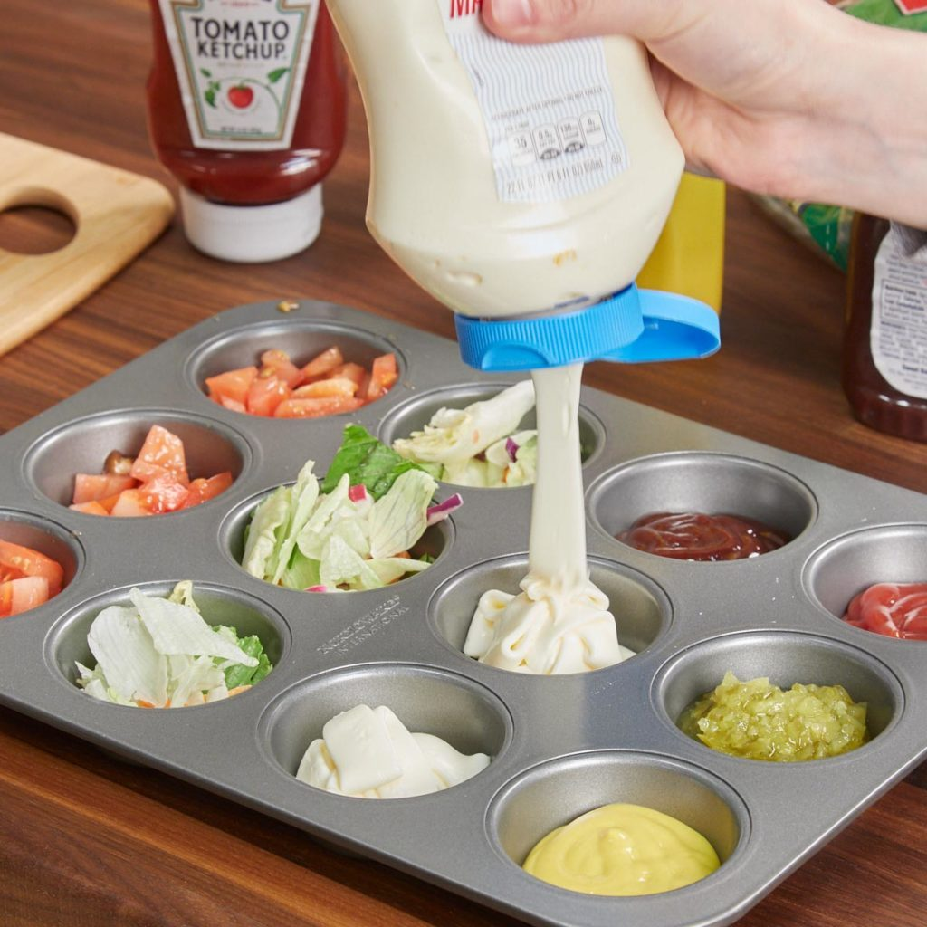 Muffin tins for condiments