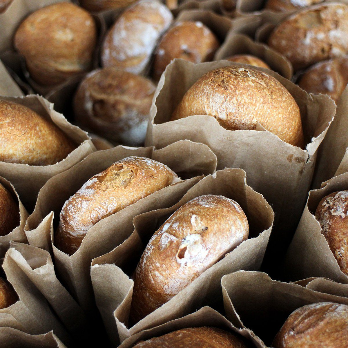 fresh baked breads in market place