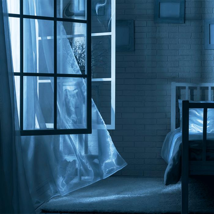 open window at night