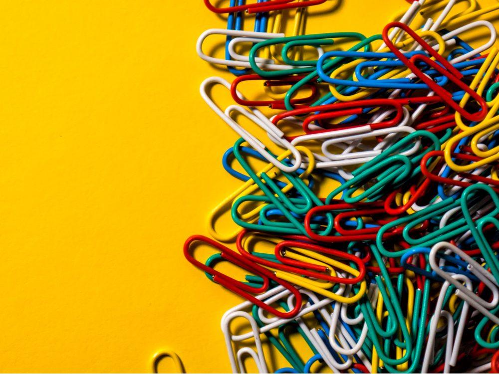 Multicolour paper clips