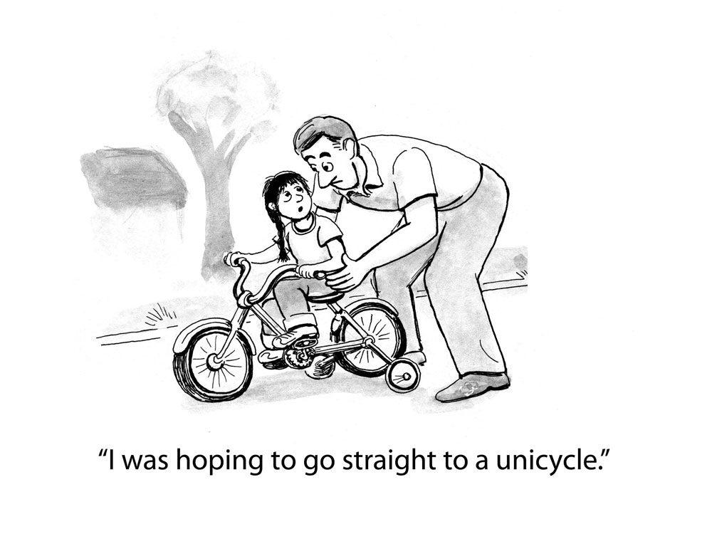 kids joke unicycle