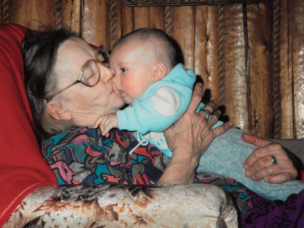Grandma Norah with Tara's son, Ryan, in 1993