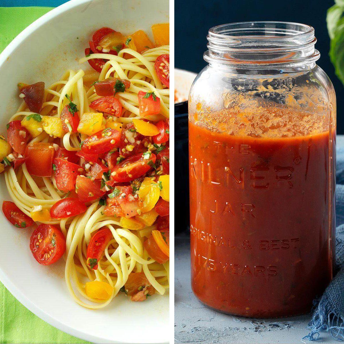 Pasta and jarred sauce