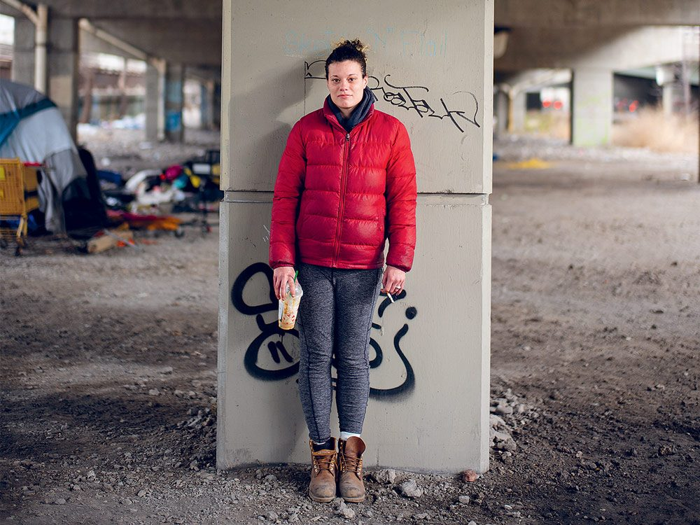 Stacie, 31, was living under the Gardiner before the encampments were cleared out