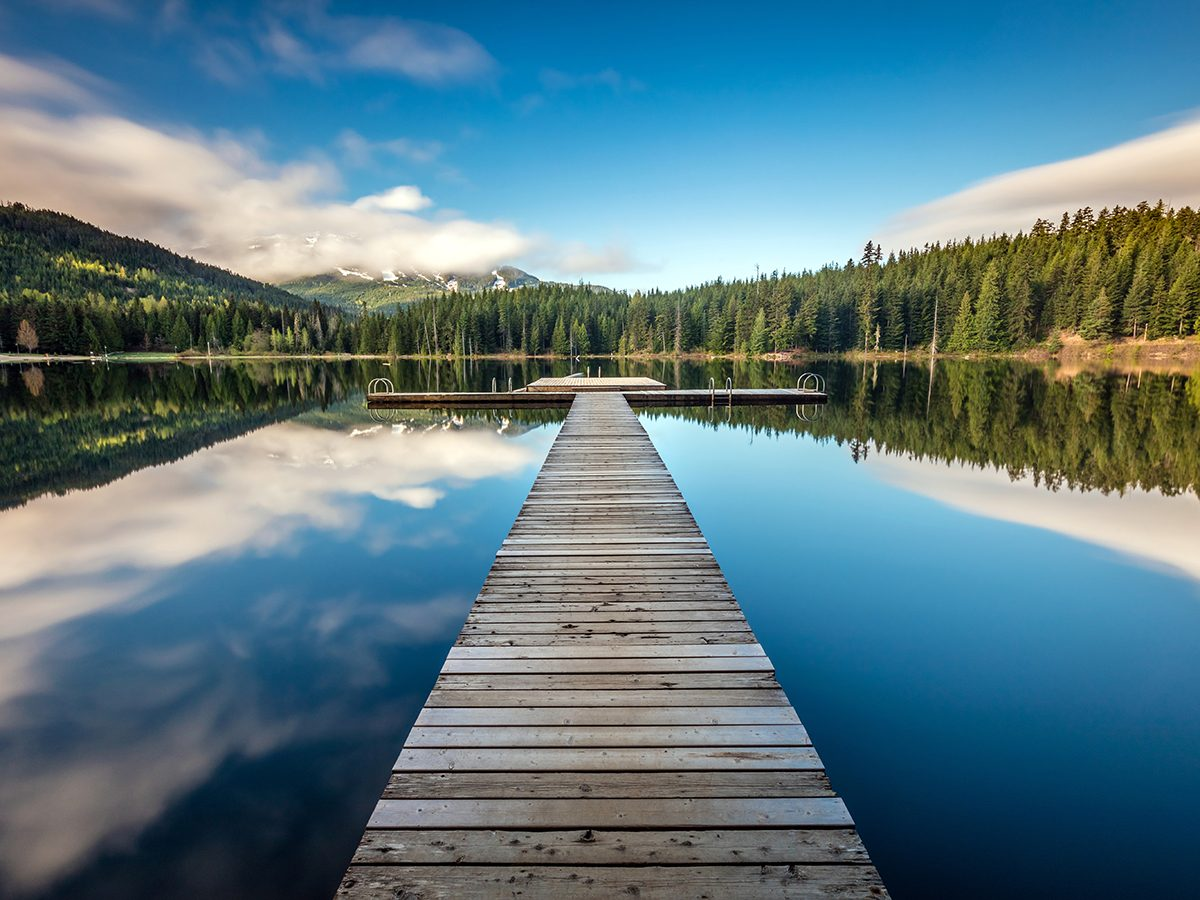 Whistler summer - things to do in whistler - Long exposure at the Lost Lake dock in Whistler, British Columbia