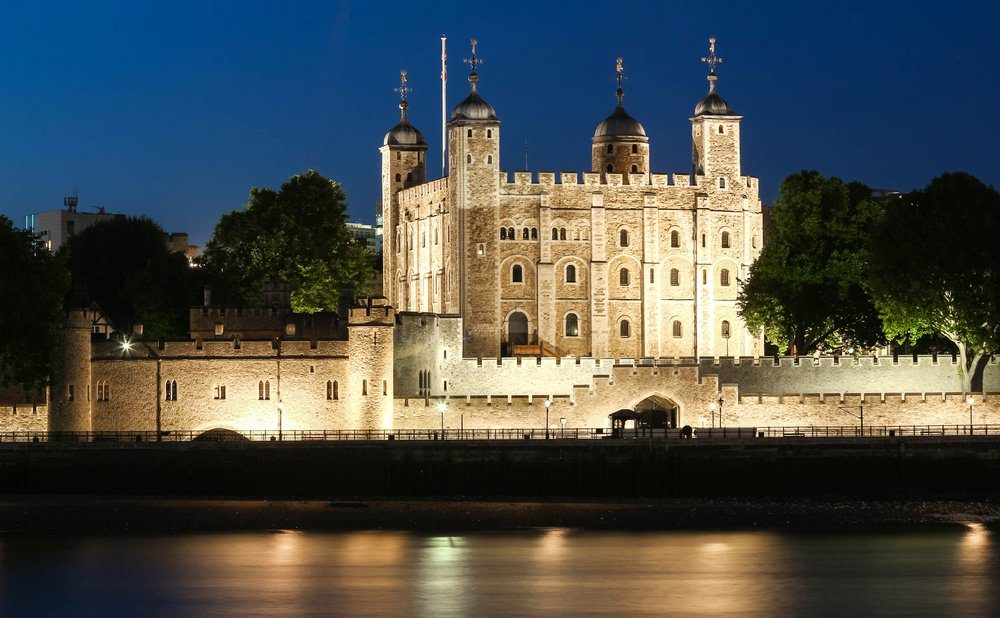 The White Tower -Main castle within the Tower of London,United Kingdom.