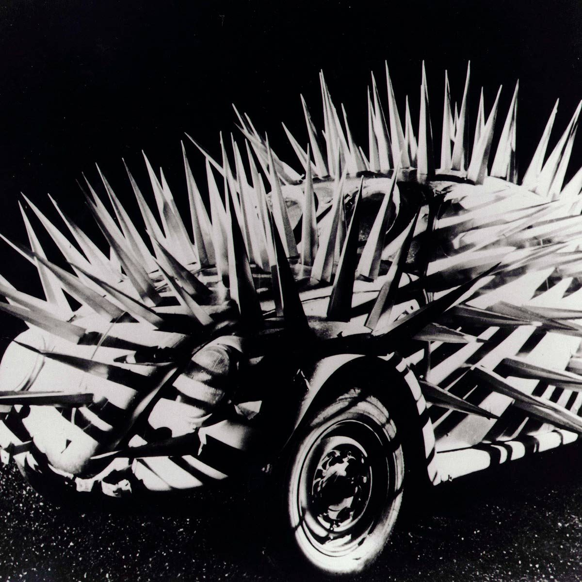 VW Beetle with spikes from the movie The Cars that Ate Paris