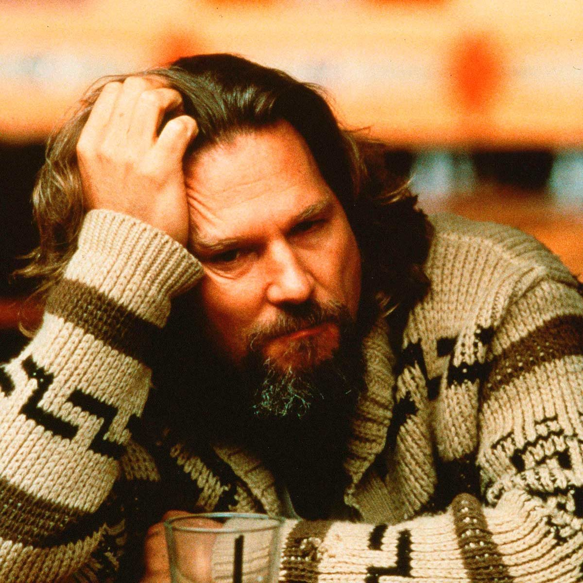 Jeff Bridges as The Dude from The Big Lebowski