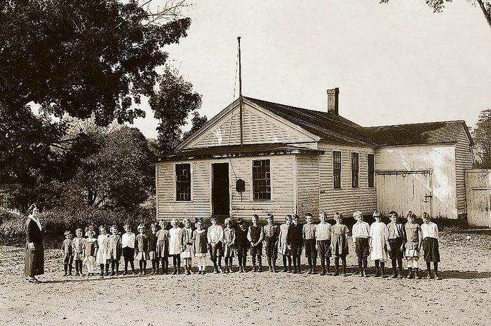 8 grades 1 school building