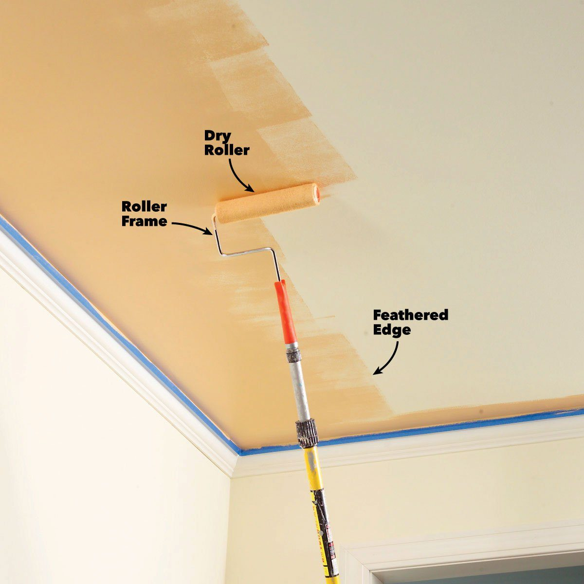 interior painting tips feather out paint