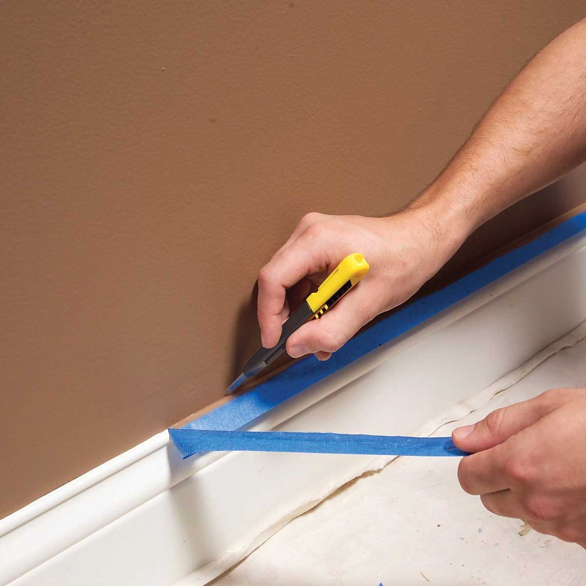 interior painting tips cut tape loose